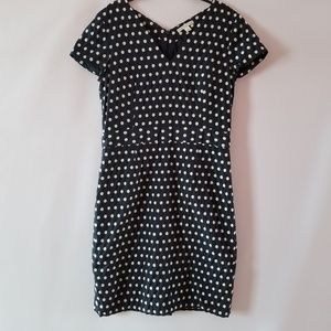 Banana republic polka dot dress size 14.